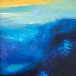 """Deep Sea Journey - Oil 12"""" x 12"""""""