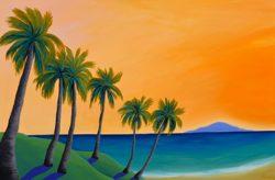 Golden Sunset Palms